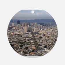 san francisco Round Ornament