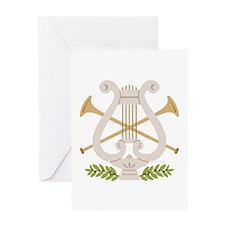 Christmas Harp Greeting Cards