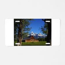 Grand Tetons Naional Park Aluminum License Plate