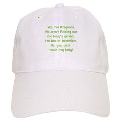 Pregnant Surprise due Decembe Baseball Cap