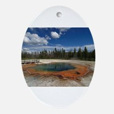 yellowstone national park Oval Ornament