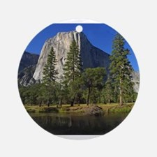 yosemite national park/ Round Ornament