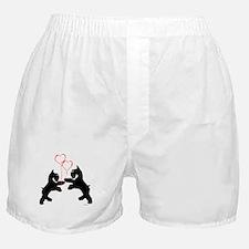 giant schnauzer hearts love i Boxer Shorts