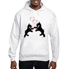 giant schnauzer hearts love i Hoodie