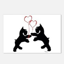 giant schnauzer hearts love i Postcards (Package o