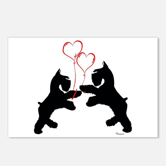 giant schnauzer hearts love i Postcards (Package o