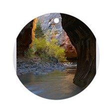 Zion Ntional Park Round Ornament