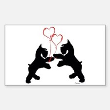 giant schnauzer hearts love i Sticker (Rectangular