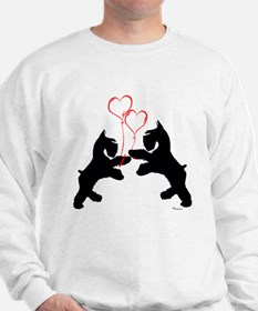 giant schnauzer hearts love i Sweatshirt