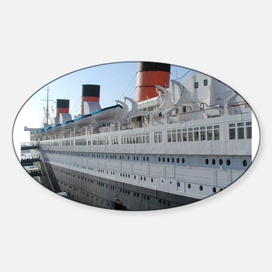 queen mary Sticker (Oval)