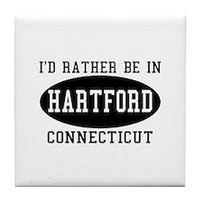 I'd Rather Be in Hartford, Co Tile Coaster