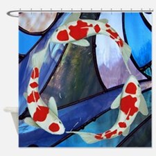 Stained Glass Koi Fish Shower Curtain
