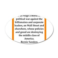 bernie sander quote Wall Decal