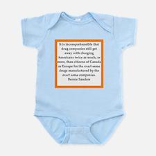 bernie sander quote Infant Bodysuit