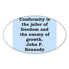 john f kennedy quote Decal