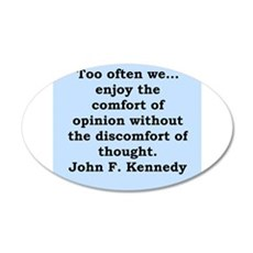 john f kennedy quote Wall Decal