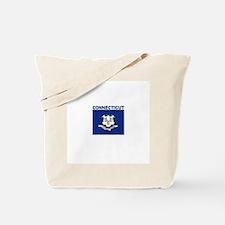 Conencticut Flag Tote Bag