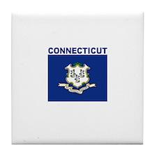 Conencticut Flag Tile Coaster