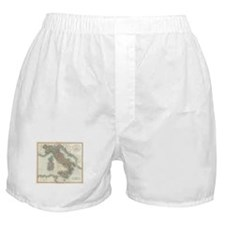 Vintage Map of Italy (1799) Boxer Shorts