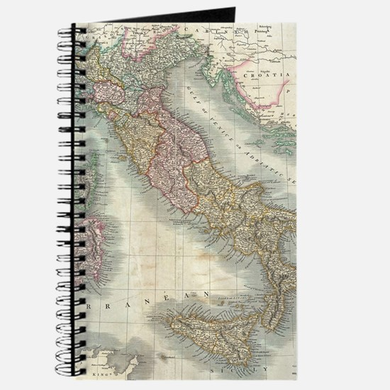 Vintage Map of Italy (1799) Journal