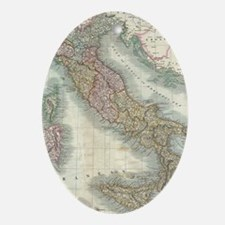Vintage Map of Italy (1799) Oval Ornament