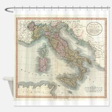 Vintage Map of Italy (1799) Shower Curtain