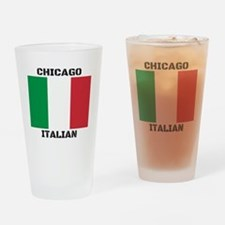 Chicago Italian Pride Drinking Glass