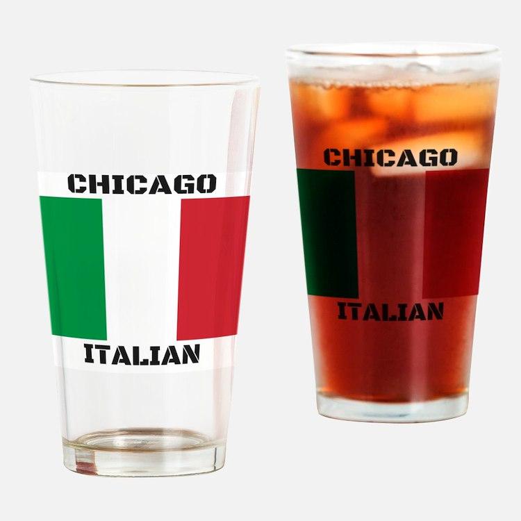 Chicago Italian Pride Drinking Glass