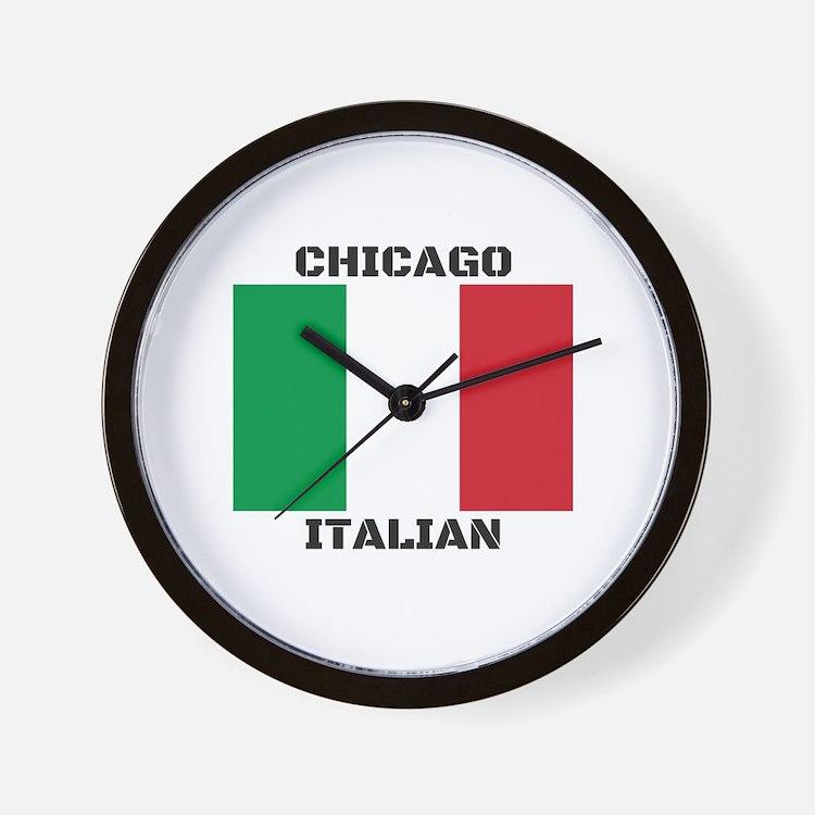 Chicago Italian Pride Wall Clock
