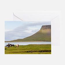Icelandic Horses Vesturland Island Greeting Card