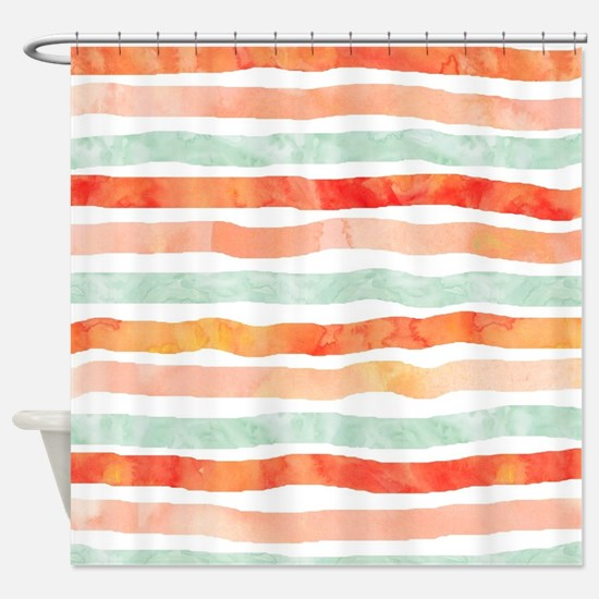 Cute Orange Shower Curtain