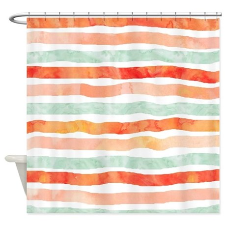 cute peach shower curtain
