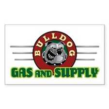 Bulldog Gas and Supply Rectangle Decal
