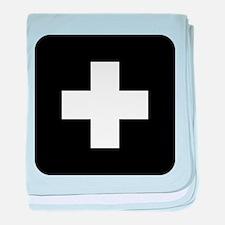 Medical Cross Symbol baby blanket