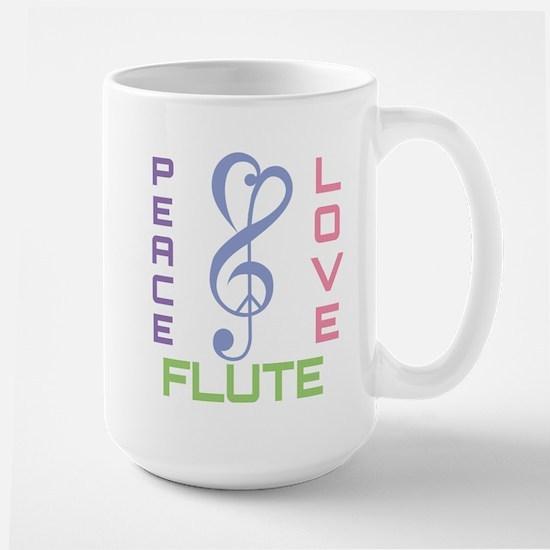 Peace Love Flute Music Mugs