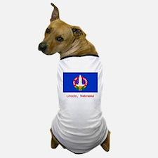 Lincoln NE Flag Dog T-Shirt