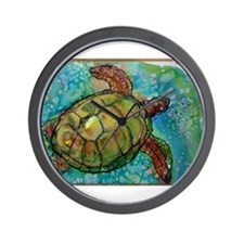 Sea turtle! Wildlife art! Wall Clock