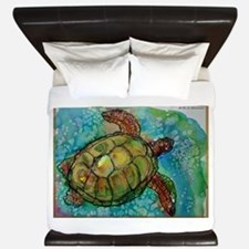 Sea turtle! Wildlife art! King Duvet