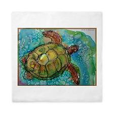 Sea turtle! Wildlife art! Queen Duvet