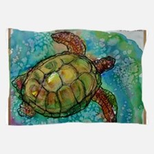 Sea turtle! Wildlife art! Pillow Case