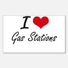 I love Gas Stations Decal