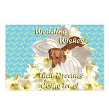 Wedding Wishes Dachshund Dogs Postcards (Package o