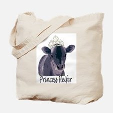 Cow Art Heifer Princess Tote Bag