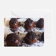 Cute Chocolate truffles Greeting Card