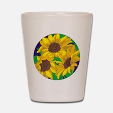Sunny Days Sunflowers Shot Glass