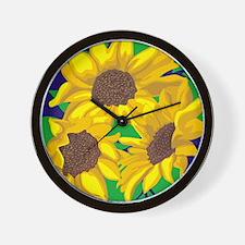 Sunny Days Sunflowers Wall Clock