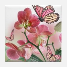 Funny Orchids Tile Coaster