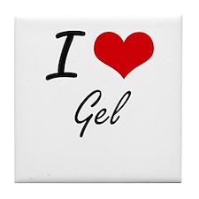 I love Gel Tile Coaster