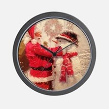 Cute Snowman Wall Clock