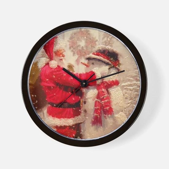 Cute Christmas Wall Clock
